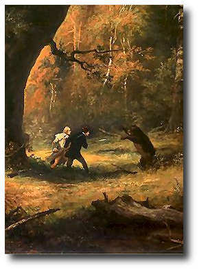 """""""It isn't a dragon,""""  Krin explained patiently, """"cos it's a bear."""" Artwork: This painting is in the public domain."""