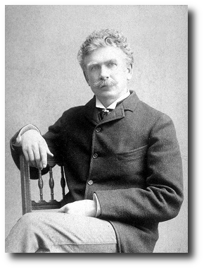 Ambrose Bierce in 1892, about a year before this story was published. Artwork : This photo is in the public domain and comes to us via .