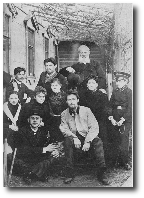 Perhaps the Chekhov family was the inspiration for this story. This picture was taken in 1890. Anton is in the front row, wearing a white jacket. Artwork : public domain, coming to us courtesy of .