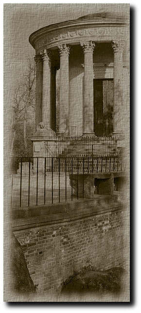 Artwork : The Temple of the Sibyl.  from . Modified by Jake Freivald. Licensed under .