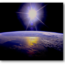 Sunburst over Earth, courtesy of NASA and Wikimedia Commons.