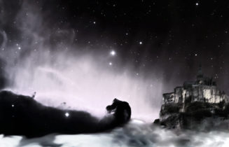 spaceship on the horsehead nebulae