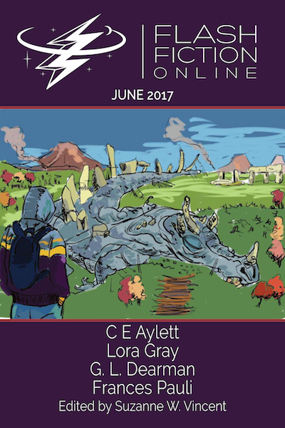 Cover of flash fiction online june 2017 issue