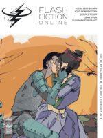 Illustration of man and woman kissing by Dario Bijelac